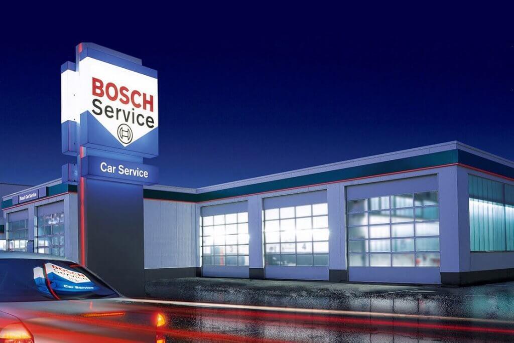 Bosch service centre at night | Walker cutting