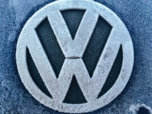 Volkswagen Logo Frosted | VW Servicing Rotherham