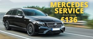 Mercedes servicing offer from only £136 | Walker cutting