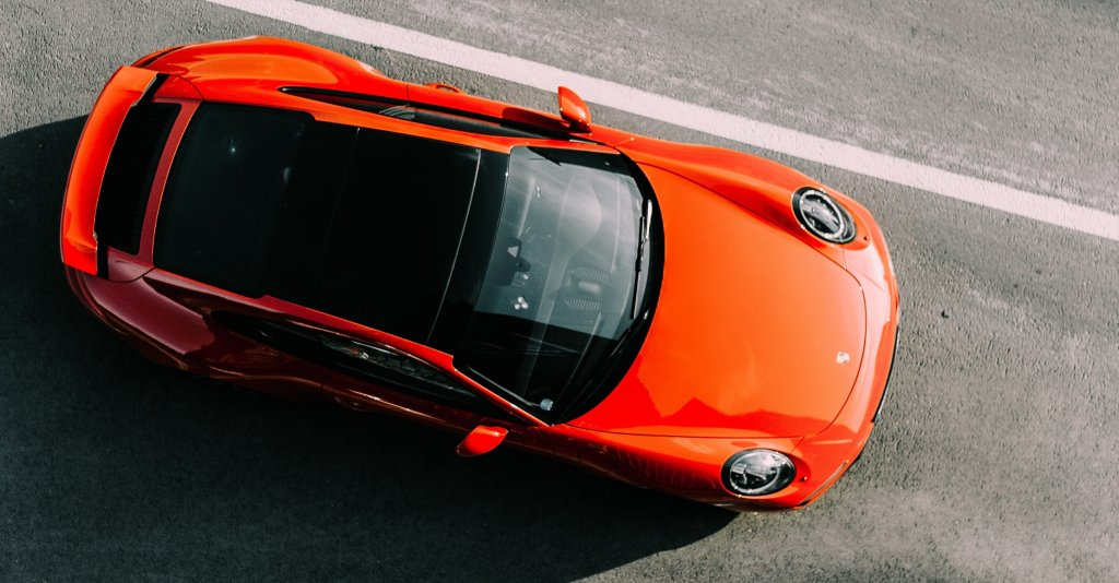 Parked Orange Porsche | Walker cutting